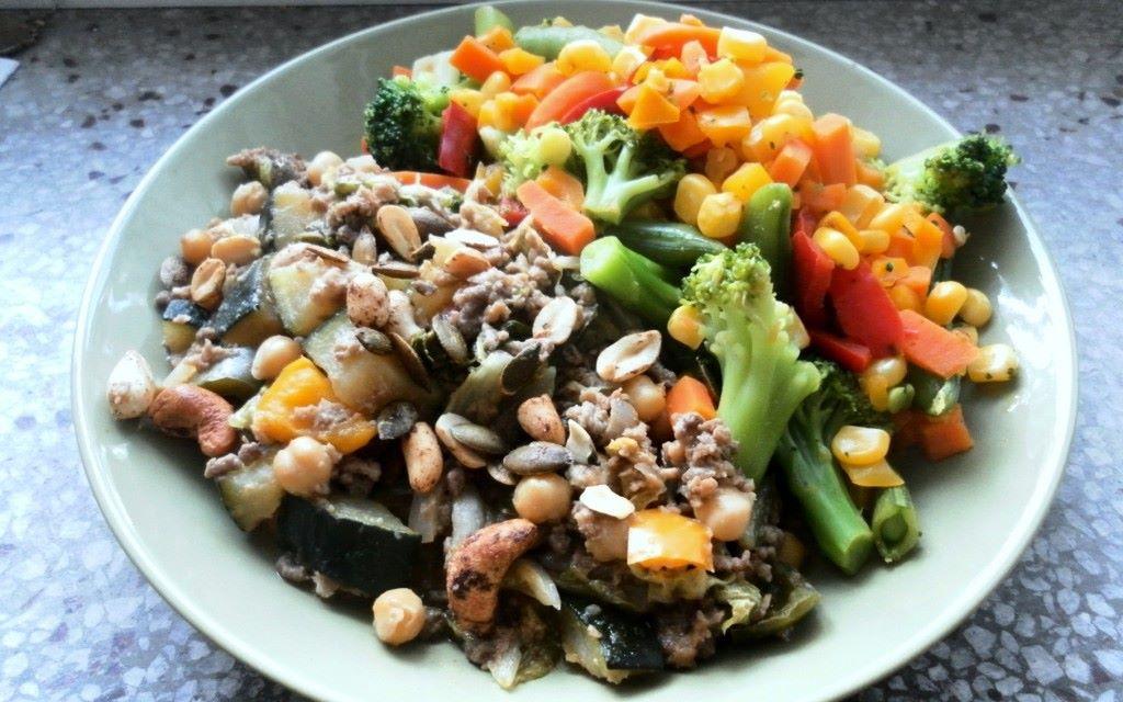 Taivaallista jauheliha<3wokkia ja wok-vihanneksia