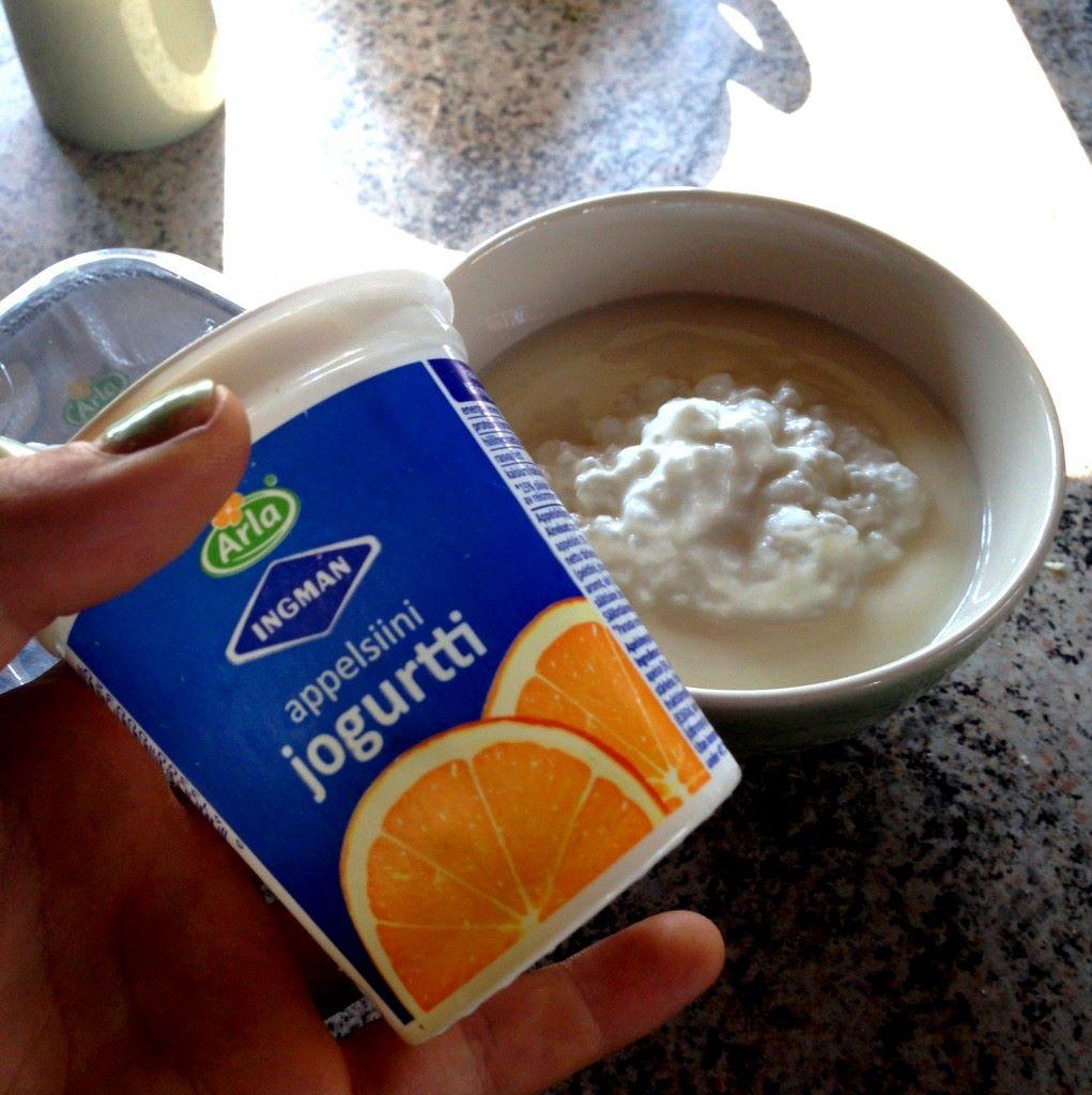 AamupalaHERKKU <3 Appelsiinijugurttia+raejuustoa