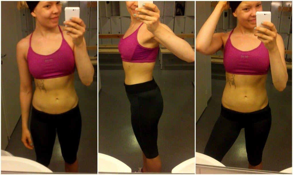 Kondis viime kehonkoostumusmittauksen jälkeen ennen kesähulinoita  ;)