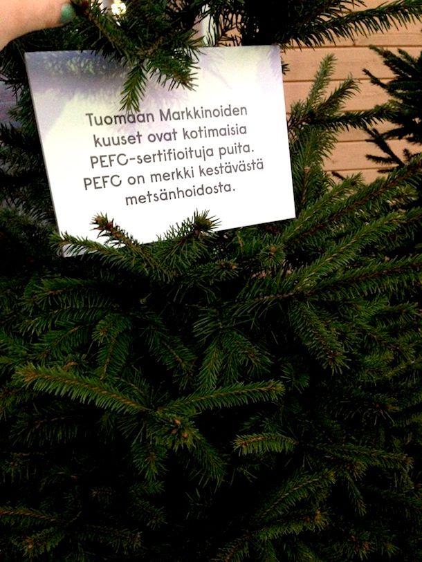 PEFC-sertifioitu joulukuusi