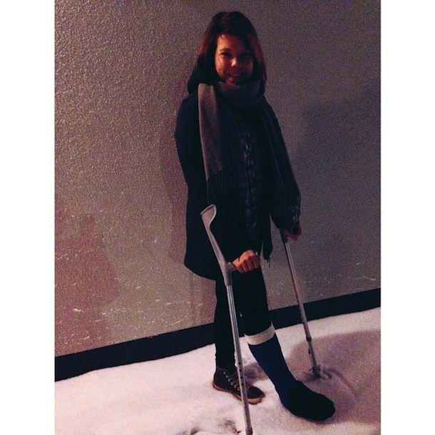 Oulu, kipsijalka ja luminen maa