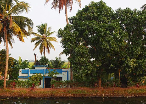 Intia, Kerala, Alleppey, Houseboat